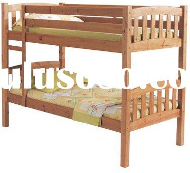 Children wooden bunk bed