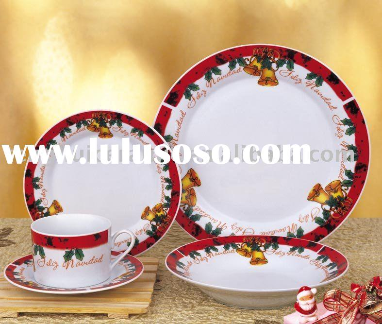 Christmas bell porcelain chinaware set ceramic dinner set
