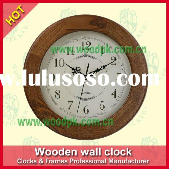 Classical wooden quartz clock movement