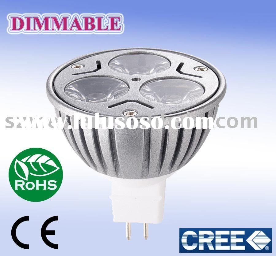 DIMMABLE Cree LED bulb 12v spot light LED Cree mr16 led
