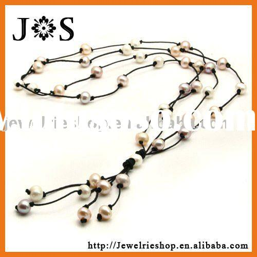 Fashion Jewelry Multicolor Freshwater Cultured Pearl Necklace