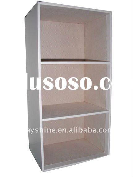 Faux leather CD rack/Faux leather storage cabinet