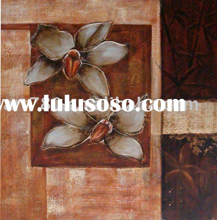 Flower canvas art,modern design,decorative oil painting