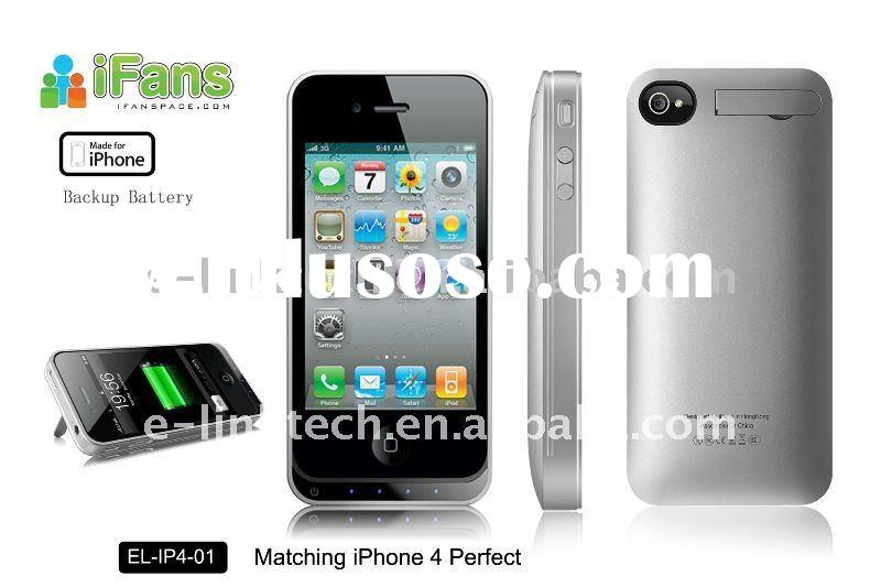 For Iphone4 accessories -portable backup battery charger case