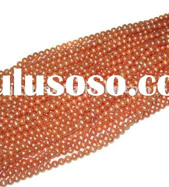 Freshwater rice round pearl strands
