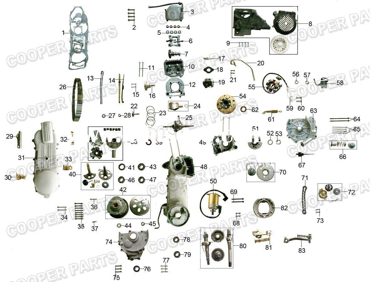 GY6_150cc_ENGINE_PARTS_157QMJ_ gy6 150cc engine diagram on gy6 images free download wiring 157qmj wiring diagram at highcare.asia