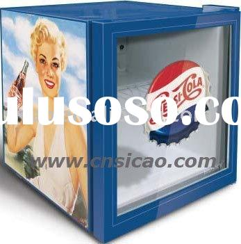 Glass Mini Refrigerator For Wines, Drinks Countertop Fridge