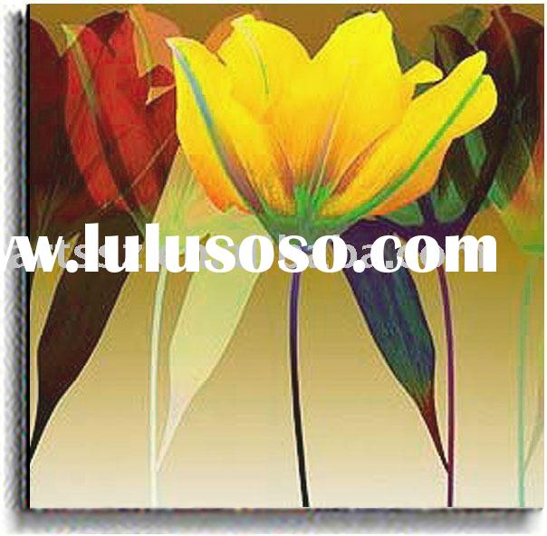 Handmade Decoration Flower Oil Painting On Canvas(7)