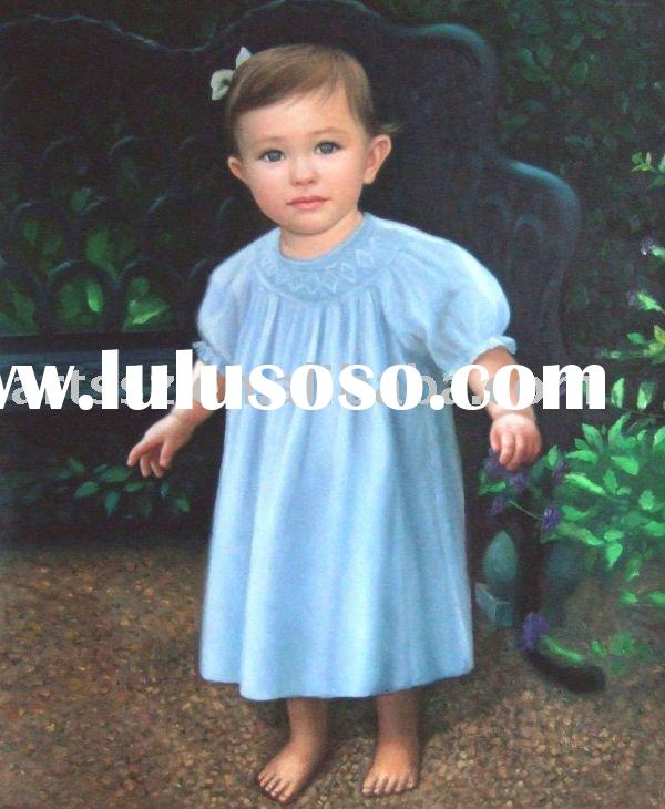 Handmade Portrait Oil Painting On Canvas(7)