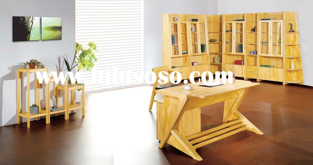 High Quality Solid pine wood office furniture set