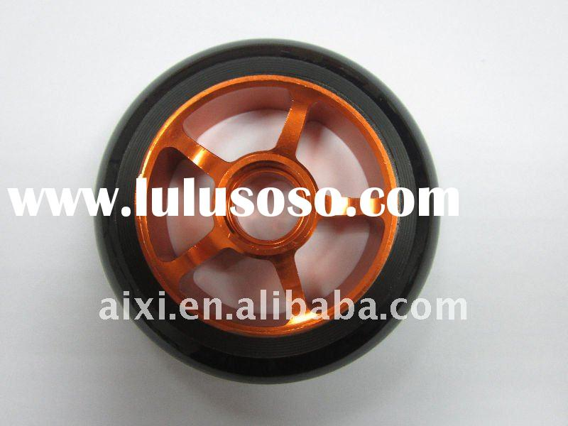 High end scooter wheels with copper color