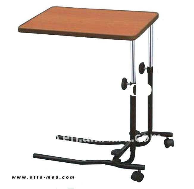 Hospital over bed table, mobile bed table