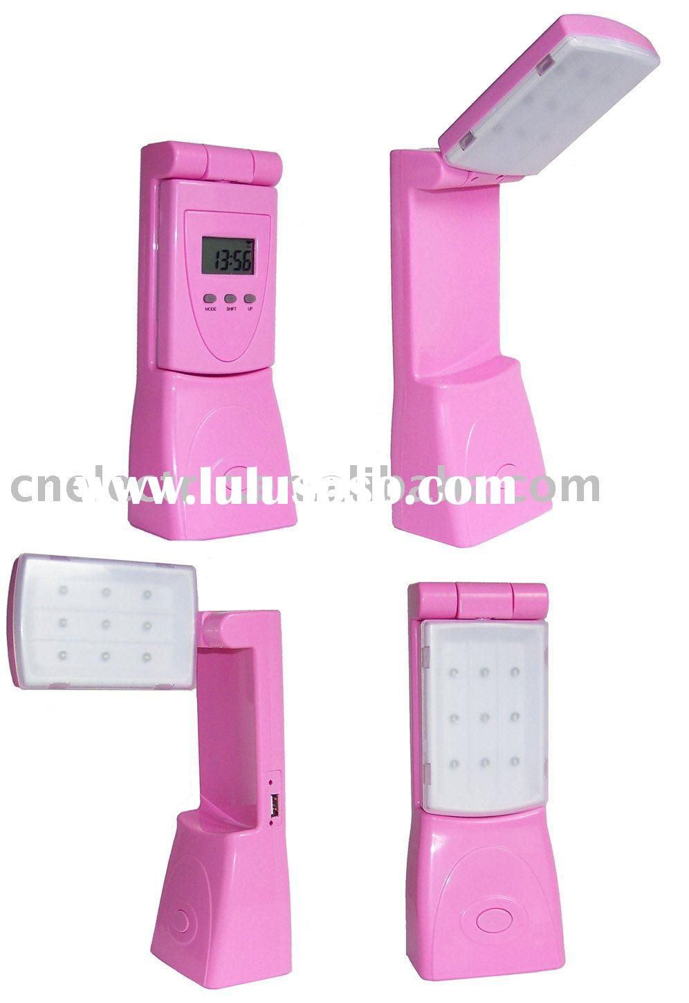LED Reading Light with Clock table/desk lamp