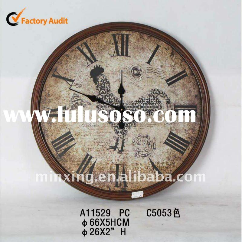 Large sale decorative wooden wall clock