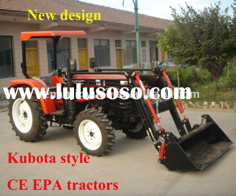 Low price Mini function 4WD wheel tractor with front loader