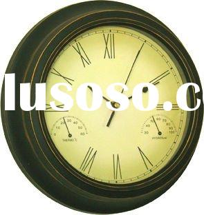 Metal table Antique grandfather clock