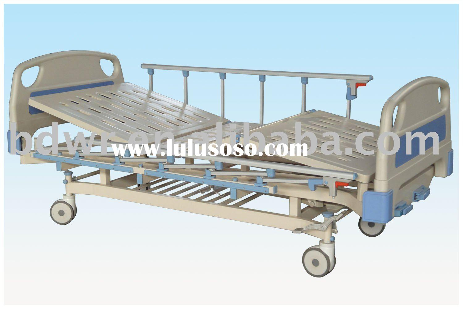 Movable full-fowler hospital bed with ABS head/foot board