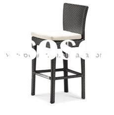 Outdoor Woven Resin Wicker Bar stool,Outdoor Rattan Bar stool