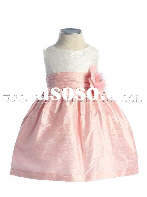 PFD110 pink flower girl dress \2009 new style