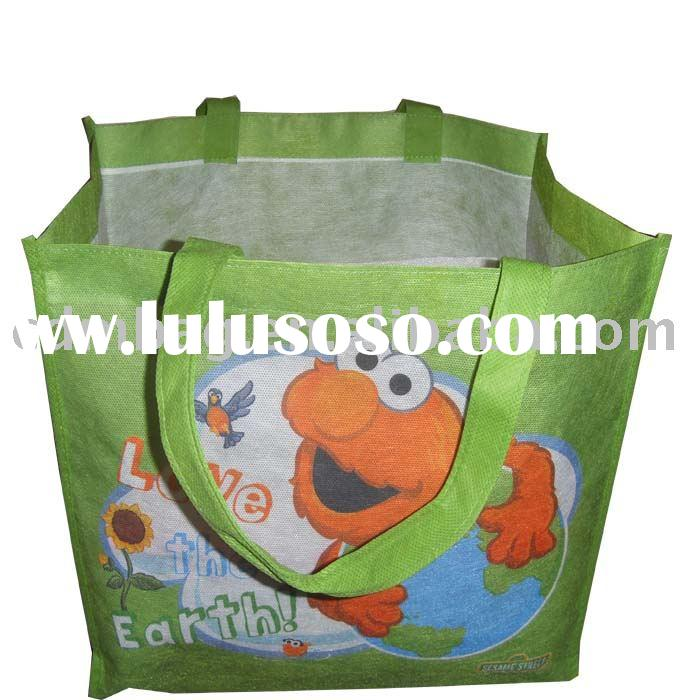 PP non woven shopping bag with opp lamination and the same material of body