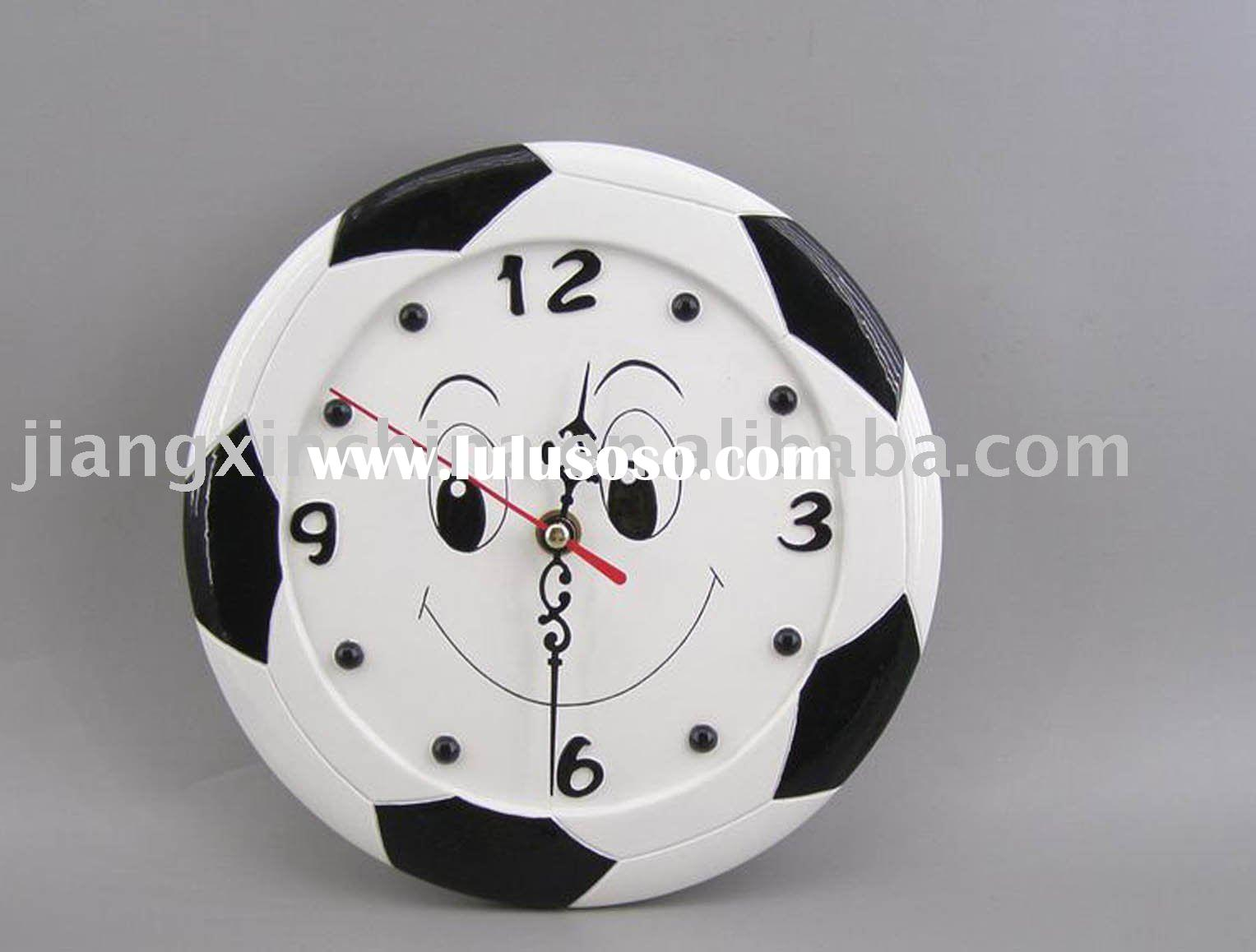 Plastic football outline border digital wall clock