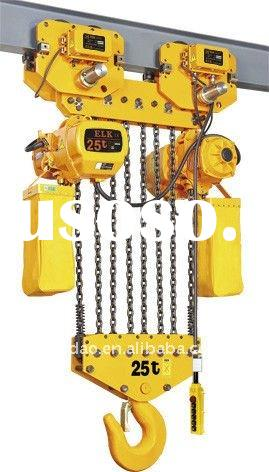 Reliable!!!25 ton ELK electric chain hoist with electric trolley