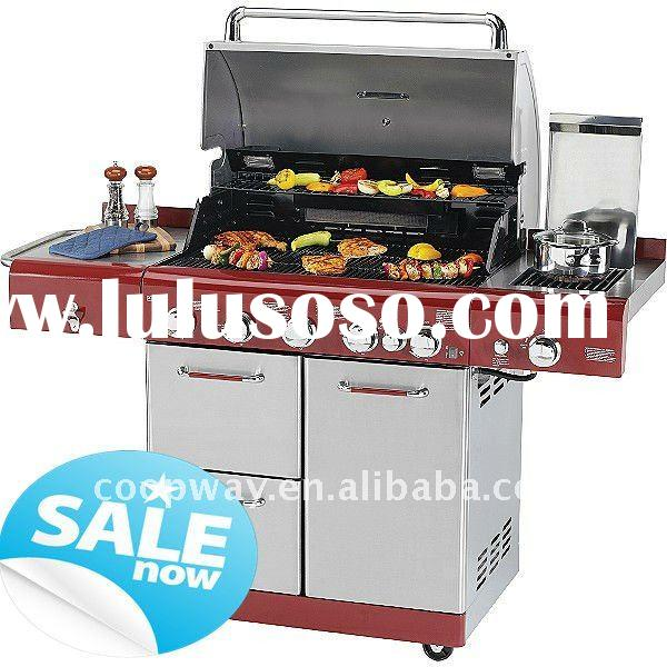 STAINLESS STEEL BBQ GAS GRILL 5MB+RB+SMB