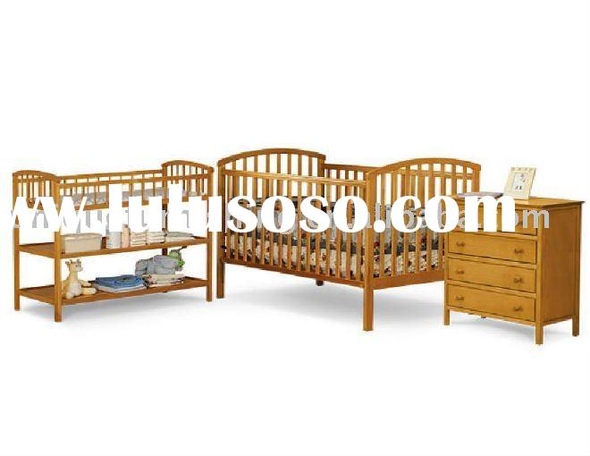 Solid Pine Wood Baby Bed