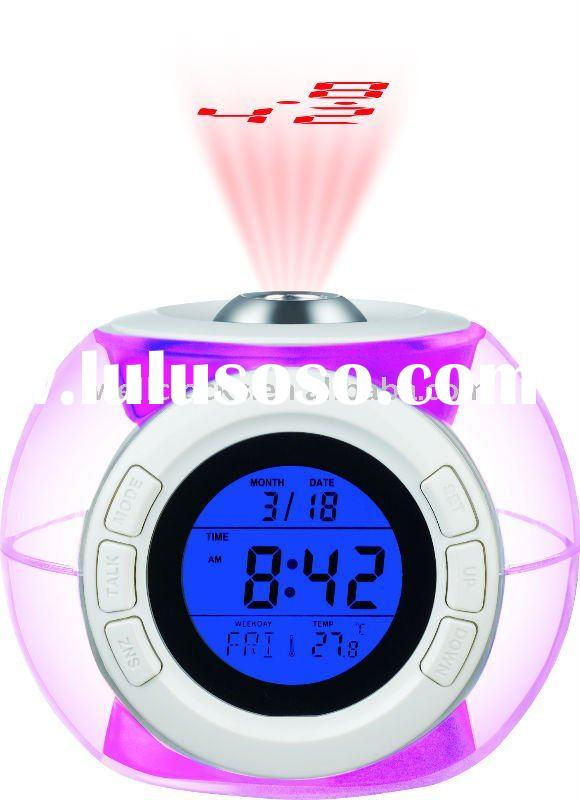 Sonic speech calendar, projection alarm clock with backlight
