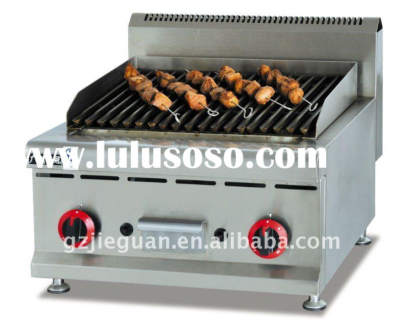 Stainless steel Counter top Gas Lava rock Grill GB-589