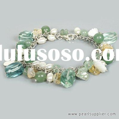 Sterling Silver Bracelet with Freshwater Pearl