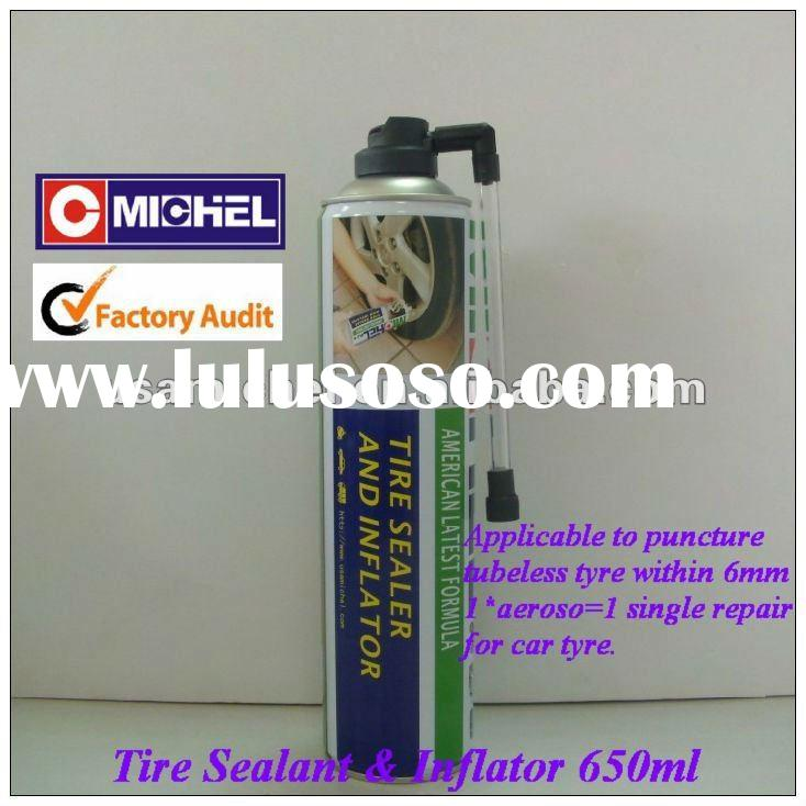 Tire Sealer and Inflator, Tire Repair Spray, Tire Inflator, Tire Sealant, 650ml For Car Tyres