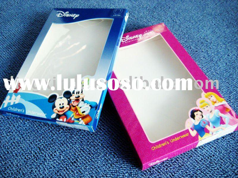 Underwear Packaging Box With PVC Window