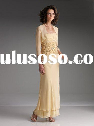 Unique elegant chiffon jacket Mother of brides dresses,mother evening dresses,prom dresses,special o