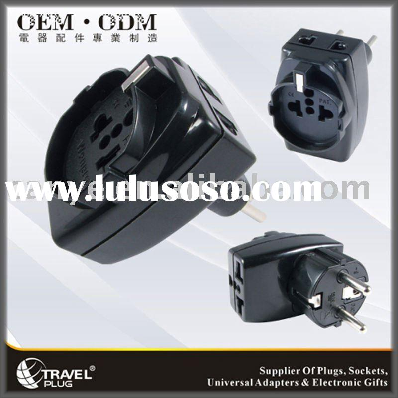 Universal to Germany/France/Indonesia/Korea Travel Plug Adapter