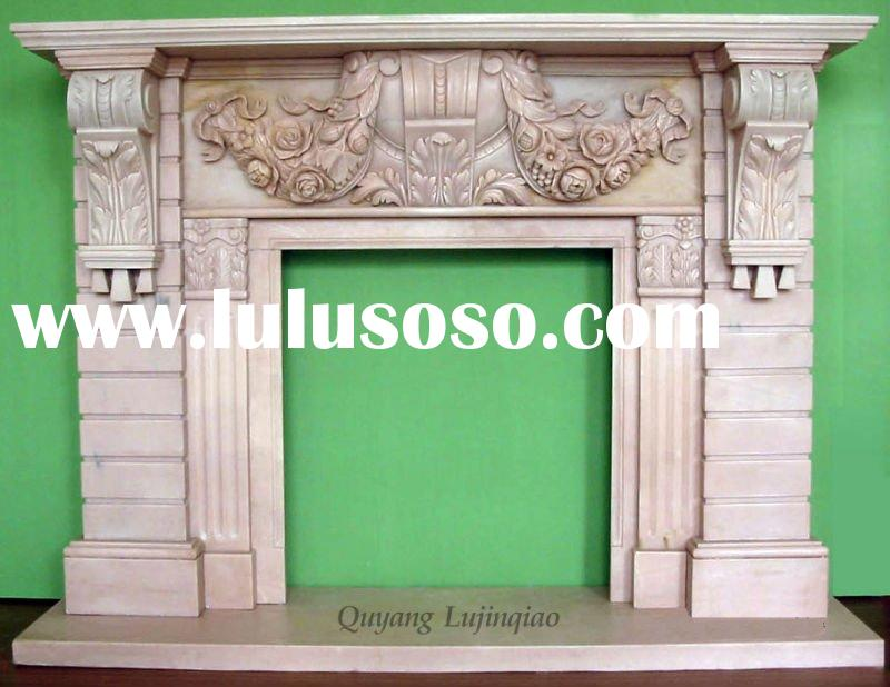 Antique Stone Fireplace Mantel images