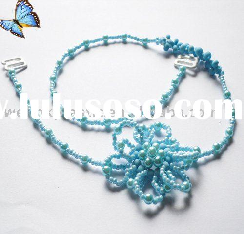 beaded jewelry bra strap