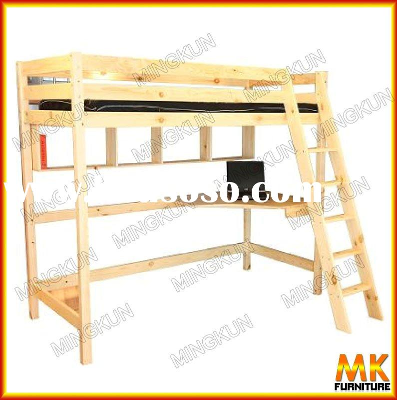 bunk bed wooden furniture bunk bed with computer desk pine furniture