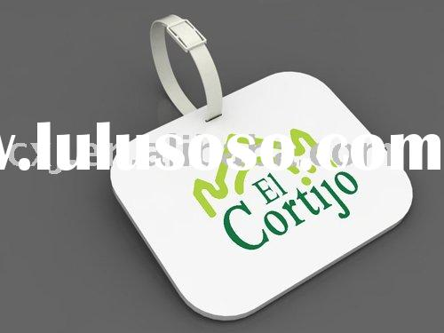 cheap luggage tag 1Material PVC ABS PET PS Brass and silver 2