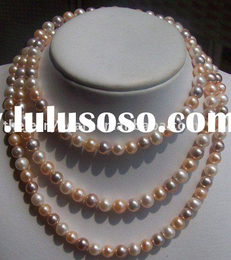 custome handmade fine pearls bead fashion jewelry AAA nature cultured multicolor round freshwater na