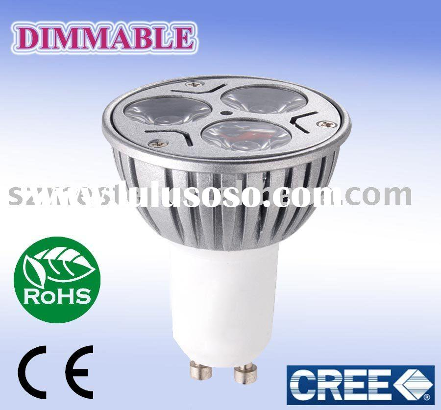dimmable gu10 3x3w cree led lamp 220v gu10 led bulb 5w cree led light UL