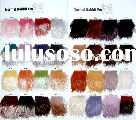 dressed rabbit skin dyed color according your require FSN711