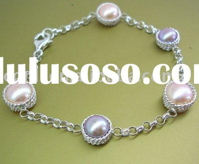 freshwater pearl jewelry, pearl necklace, zinc alloy pearl jewelry