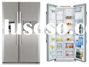 frost free side by side door refrigerator with ice maker and minibar