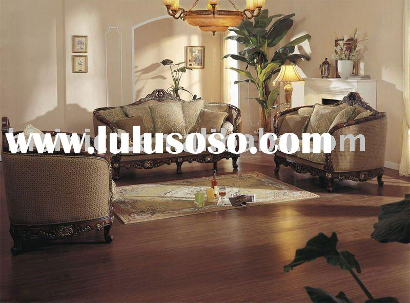 high quality fabric upholstered sofa set very comfortable antique american sofa set B47059