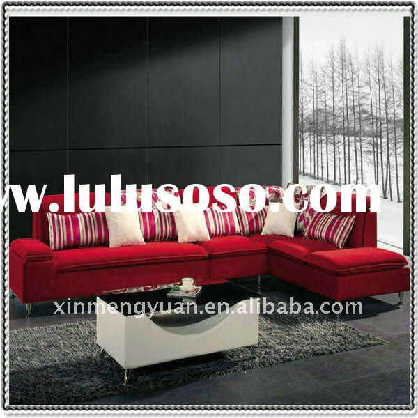 living room/furniture red fabric L shape sofa A40#
