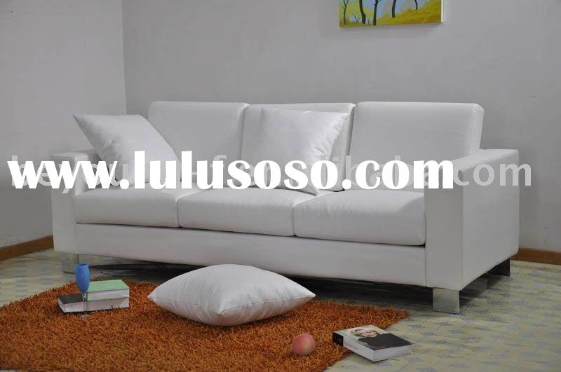 modern European style living room genuine leather sofa