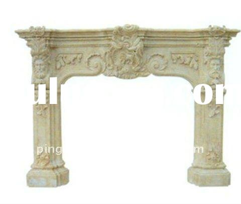 pure colored marble fireplace hearth