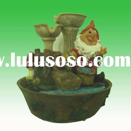 resin gnome indoor water features