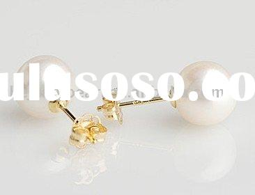 round freshwater pearl earrings fashion jewelry